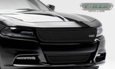 T-REX Grilles - 2015-2021 Charger Upper Class Series Bumper Grille, Black, 1 Pc, Overlay - PN #52480 - Image 4