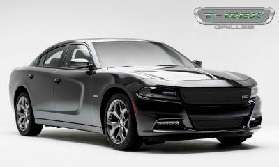 T-REX Grilles - 2015-2021 Charger Upper Class Series Bumper Grille, Black, 1 Pc, Overlay - PN #52480 - Image 3