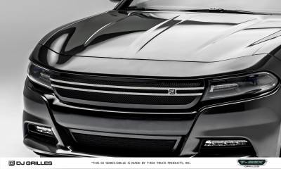 DJ Series Grilles - T-REX Dodge Charger - DJ Series Urban - Main Grille - Overlay/Insert - Black Powder Coated - Pt # DJ14761