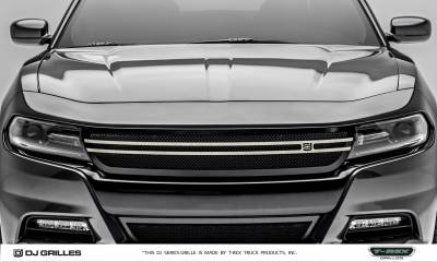 T-REX Grilles - 2015-2019 Charger DJ Grille, Black, 1 Pc, Insert, with Brushed Trim Accent  - PN #DJ14761 - Image 4