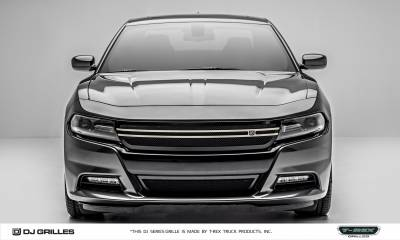 T-REX Grilles - 2015-2019 Charger DJ Grille, Black, 1 Pc, Insert, with Brushed Trim Accent  - PN #DJ14761 - Image 3