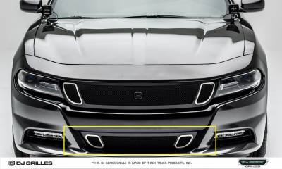 T-REX Grilles - Dodge Charger - DJ Series Strada - Bumper Grille - Overlay - Black Powder Coated - Pt # DJ24801