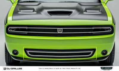 T-REX Grilles - Dodge Challenger - DJ Series - Phantom Style - Bumper Grille Overlay - Pt # DJ24191