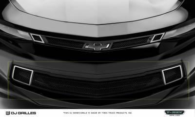 DJ Series Grilles - Chevrolet Camaro Dodge Challenger - DJ Series Strada - Bumper Grille Overlay - Pt # DJ20341
