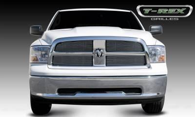T-REX Grilles - Dodge Ram PU 1500 Billet Grille Overlay - Black - 4 Pc - Pt # 21456B
