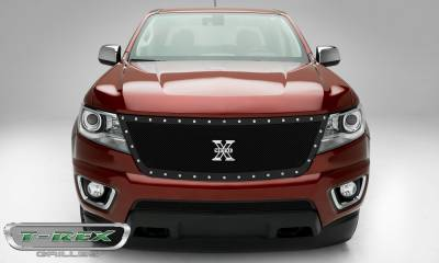 T-REX Grilles - 2015-2019 Chev Colorado X-Metal Grille, Black, 1 Pc, Replacement, Chrome Studs - PN #6712671