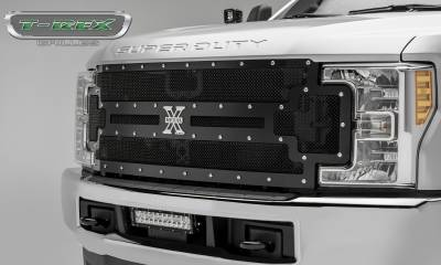 T-REX Grilles - 2017-2019 Super Duty X-Metal Grille, Black, 1 Pc, Replacement, Chrome Studs - PN #6715471 - Image 5