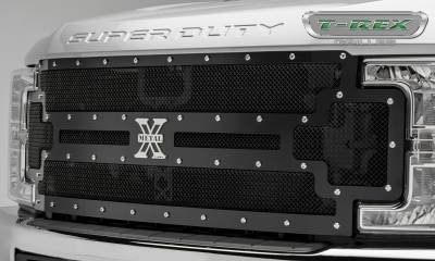 T-REX Grilles - 2017-2019 Super Duty X-Metal Grille, Black, 1 Pc, Replacement, Chrome Studs - PN #6715471 - Image 4