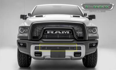 T-REX Grilles - 2015-2018 Ram 1500 Rebel Billet Bumper Grille, Polished, 1 Pc, Insert - PN #254641 - Image 2