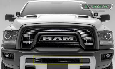 T-REX Grilles - 2015-2018 Ram 1500 Rebel Billet Bumper Grille, Polished, 1 Pc, Insert - PN #254641
