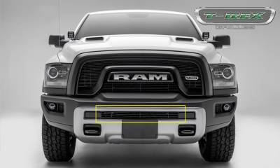 Billet Series Grilles - T-REX Grilles - T-REX Ram Rebel - Billet Series - Bumper Grille Overlay - Aluminum w/ Black Powder Coated Finish - Part #254641B