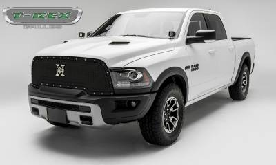 T-REX Grilles - 2015-2018 Ram 1500 Rebel X-Metal Grille, Black, 1 Pc, Replacement, Chrome Studs - PN #6714641 - Image 2