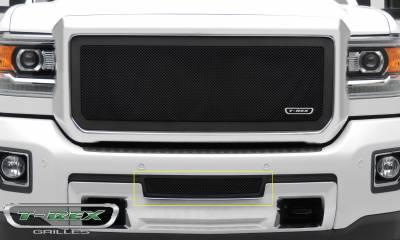 T-REX Grilles - 2015-2019 Sierra HD Upper Class Series Bumper Grille, Black, 1 Pc, Insert - PN #52211 - Image 3