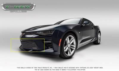 T-REX Grilles - 2016-2018 Camaro Billet Bumper Grille, Polished, 1 Pc, Overlay, V6 - PN #25033 - Image 9