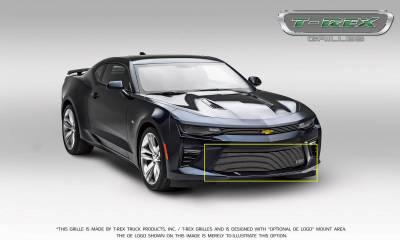 T-REX Grilles - 2016-2018 Camaro Billet Bumper Grille, Polished, 1 Pc, Overlay, V6 - PN #25033 - Image 5