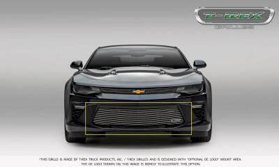 T-REX Grilles - 2016-2018 Camaro Billet Bumper Grille, Polished, 1 Pc, Overlay, V6 - PN #25033 - Image 3