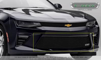 T-REX Grilles - 2016-2018 Camaro Billet Bumper Grille, Black, 1 Pc, Overlay, V6 - PN #25033B - Image 6