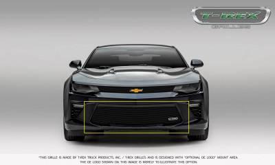 T-REX Grilles - 2016-2018 Camaro Billet Bumper Grille, Black, 1 Pc, Overlay, V6 - PN #25033B - Image 3