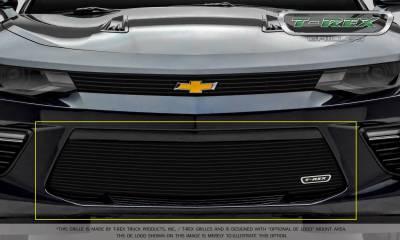 T-REX Grilles - 2016-2018 Camaro Billet Bumper Grille, Black, 1 Pc, Overlay, V6 - PN #25033B - Image 2