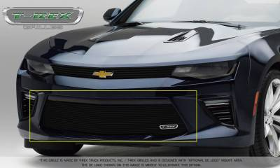 Billet Series Grilles - T-REX Grilles - T-REX Chevrolet Camaro V6 Model - Billet Series - Bumper Grille Overlay with Black Powder Coated Finish - Pt # 25033B