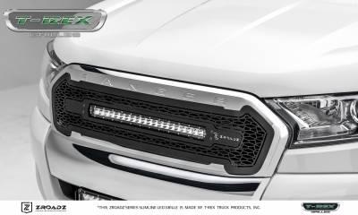 "T-REX Grilles - 2015-2018 Ford Ranger T6 ZROADZ Grille, Black, 1 Pc, Insert, Incl. (1) 20"" LED - PN #Z315761 - Image 4"