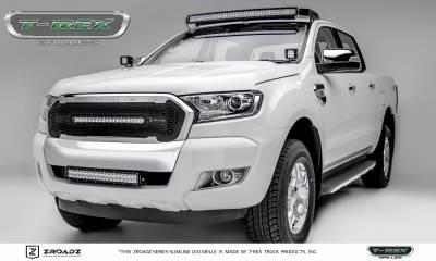 "T-REX Grilles - 2015-2018 Ford Ranger T6 ZROADZ Grille, Black, 1 Pc, Insert, Incl. (1) 20"" LED - PN #Z315761 - Image 5"