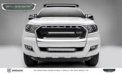 "T-REX Grilles - 2015-2018 Ford Ranger T6 ZROADZ Grille, Black, 1 Pc, Insert, Incl. (1) 20"" LED - PN #Z315761"