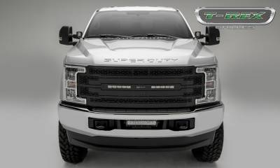 "T-REX Grilles - 2017-2019 Super Duty ZROADZ Grille, Black, 1 Pc, Replacement, Incl. (2) 10"" LEDs, Fits Vehicles with Camera - PN #Z315371 - Image 2"