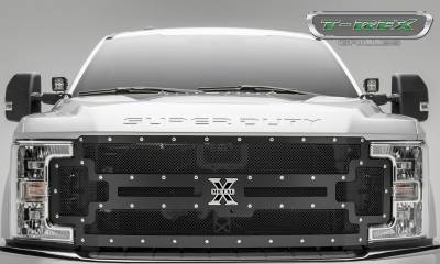 X-Metal Series Grilles - T-REX Ford F-250 / F-350 Super Duty w/ Camera Provision - X-METAL - Main Replacement Grille - Steel Frame w/ Wire Mesh - Studded with Black Powdercoat Finish - Pt # 6715371