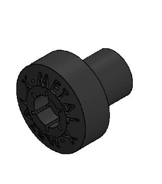 T-REX Grilles - Universal X-Metal Studs, Black, Plastic, 5 Pc - PN #6710000-3B - Image 3