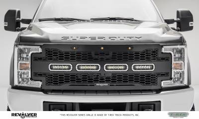 Revolver Series Grilles - T-REX Grilles - T-REX Ford Super Duty - Revolver Series - w/ Forward Facing Camera - Main Replacement - Part # 6515631
