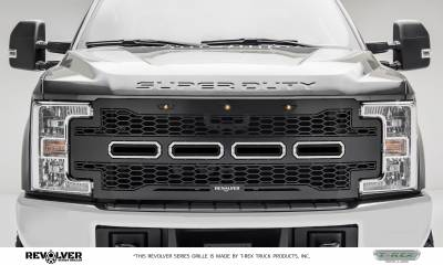 Revolver Series Grilles - T-REX Grilles - T-REX Ford Super Duty - Revolver Series - w/o Forward Facing Camera - Main Replacement - Grille - Part # 6515711