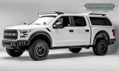 """T-REX Grilles - 2017-2019 F-150 Raptor SVT Revolver Grille, Black, 1 Pc, Replacement, Chrome Studs, Incl. (4) 6"""" LEDs, Fits Vehicles with Camera - PN #6515671 - Image 7"""