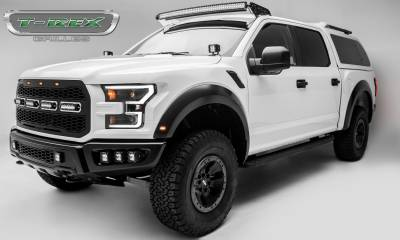 "T-REX Grilles - 2017-2019 F-150 Raptor SVT Revolver Grille, Black, 1 Pc, Replacement, Chrome Studs, Incl. (4) 6"" LEDs, Fits Vehicles with Camera - PN #6515671 - Image 8"
