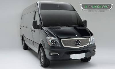 T-REX Grilles - 2014-2015 Mercedes Sprinter Upper Class Grille, Chrome, 1 Pc, Insert, with Logo Cutout - PN #56850 - Image 2