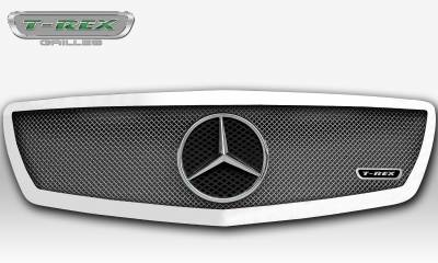 T-REX Grilles - 2014-2015 Mercedes Sprinter Upper Class Grille, Chrome, 1 Pc, Insert, with Logo Cutout - PN #56850 - Image 3
