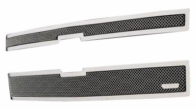 T-REX Grilles - 2014-2015 Silverado 1500 Z71 Upper Class Series Main Grille, Polished, 2 Pc, Overlay - PN #54120 - Image 2