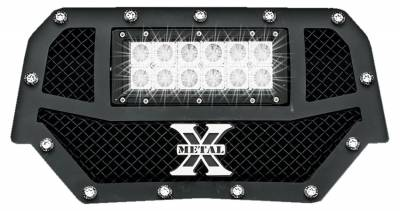 "T-REX Grilles - 2014 Polaris RZR XP 1000 Torch Grille, Black, 1 Pc, Replacement, Chrome Studs, Incl. (1) 6"" LED - PN #6319011 - Image 2"