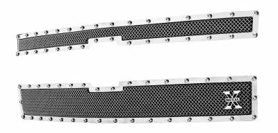 T-REX Grilles - 2014-2015 Silverado 1500 X-Metal Grille, Polished, 2 Pc, Overlay, Chrome Studs - PN #6711170 - Image 2
