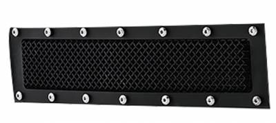 T-REX Grilles - 2015-2019 Silverado 2500, 15-17 3500 X-Metal Bumper Grille, Black, 1 Pc, Overlay, Chrome Studs - PN #6721221 - Image 2
