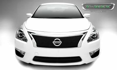 Clearance - Nissan Altima, Sport Series, Formed Mesh Grille, Main, 1 Pc, Overlay, Black Powdercoated Mild Steel
