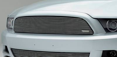 Billet Series Grilles - Ford Mustang V6 Coupe,  Billet Grille, Main, Overlay, 1 Pc, Polished Aluminum Bars, No Logo cutout