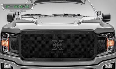 T-REX Grilles - 2018-2019 F-150 Stealth X-Metal Grille, Black, 1 Pc, Replacement, Black Studs - PN #6715711-BR - Image 2