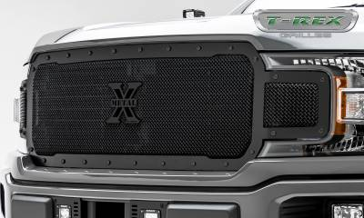 T-REX Grilles - 2018-2019 F-150 Stealth X-Metal Grille, Black, 1 Pc, Replacement, Black Studs - PN #6715711-BR - Image 3