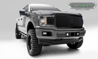T-REX Grilles - 2018-2019 F-150 Stealth X-Metal Grille, Black, 1 Pc, Replacement, Black Studs - PN #6715711-BR - Image 6