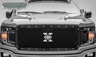 T-REX Grilles - 2018-2019 F-150 X-Metal Grille, Black, 1 Pc, Replacement, Chrome Studs - PN #6715711 - Image 2