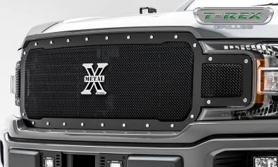 T-REX Grilles - 2018-2019 F-150 X-Metal Grille, Black, 1 Pc, Replacement, Chrome Studs - PN #6715711 - Image 3