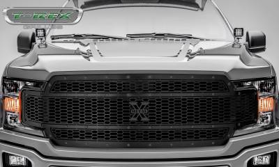 T-REX Grilles - 2018-2019 F-150 Stealth Laser X Grille, Black, 1 Pc, Replacement, Black Studs - PN #7715841-BR - Image 2