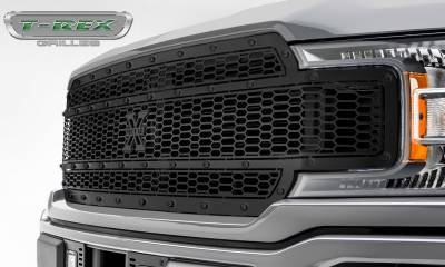 T-REX Grilles - 2018-2019 F-150 Stealth Laser X Grille, Black, 1 Pc, Replacement, Black Studs - PN #7715841-BR - Image 3
