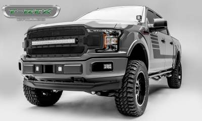 "T-REX Grilles - 2018-2019 F-150 Stealth Torch Grille, Black, 1 Pc, Replacement, Black Studs, Incl. (1) 30"" LED - PN #6315711-BR - Image 5"